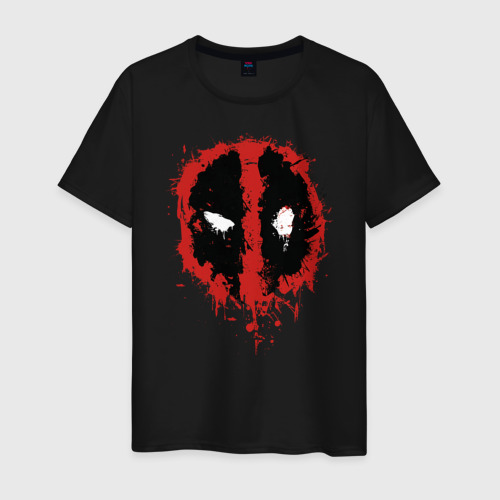 Мужская футболка хлопок Deadpool logo Фото 01