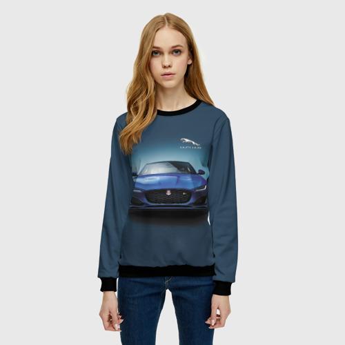 Женский свитшот 3D Jaguar Фото 01