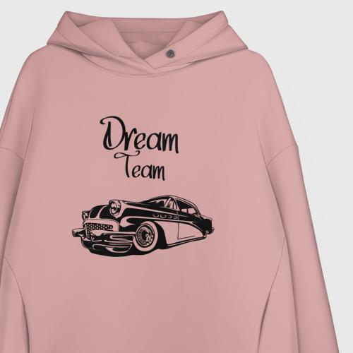 Женское худи Oversize хлопок Dream Team Фото 01