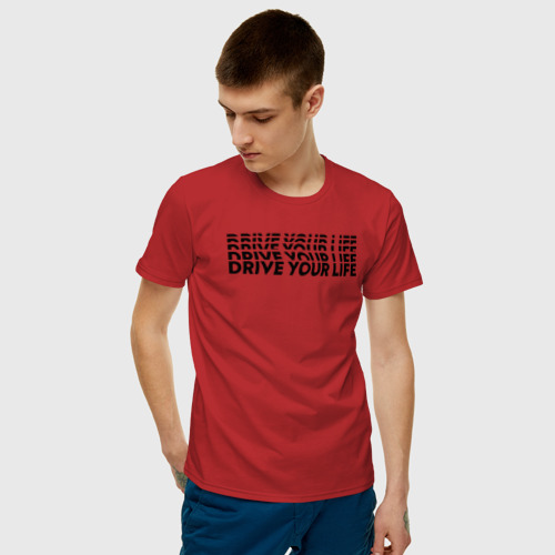 Мужская футболка хлопок drive wave black Фото 01