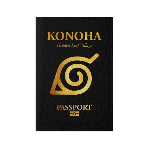Обложка для паспорта матовая кожа KONOHA PASSPORT   ПАСПОРТ КОНОХИ Фото 01