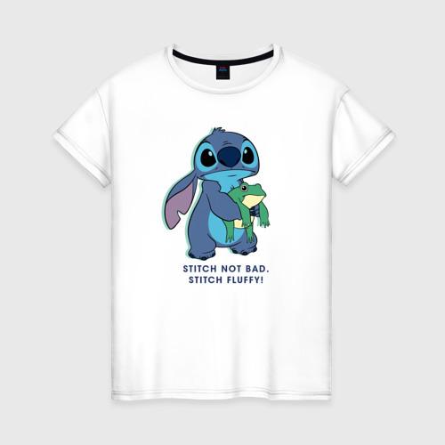 Женская футболка хлопок Стич Фото 01
