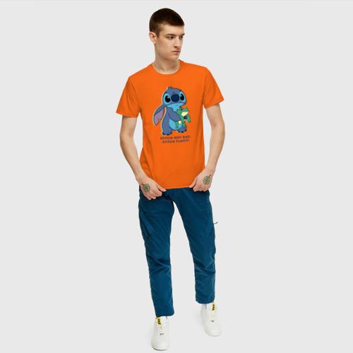Мужская футболка хлопок Стич Фото 01