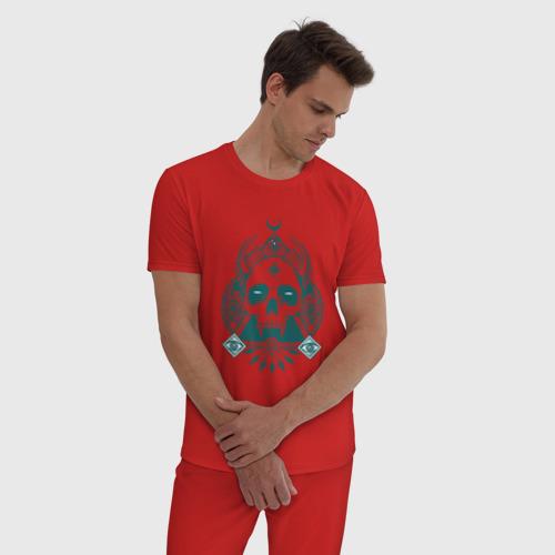 Мужская пижама хлопок Devil skull Фото 01