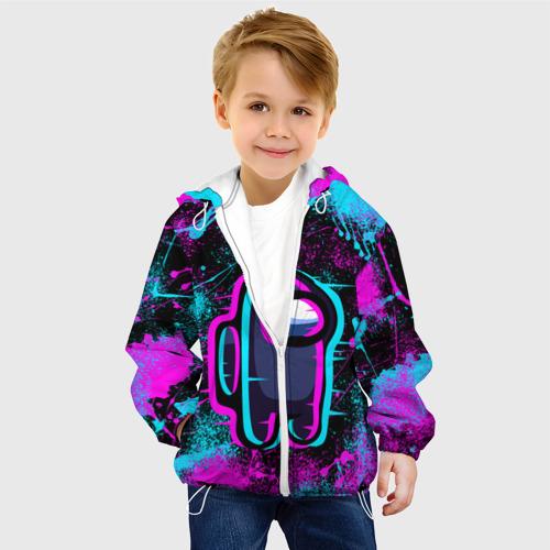 Детская куртка 3D NEON AMONG US | НЕОН АМОНГ АС Фото 01