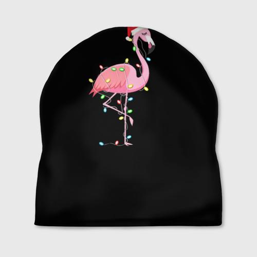 Шапка 3D Новогодний Фламинго Фото 01