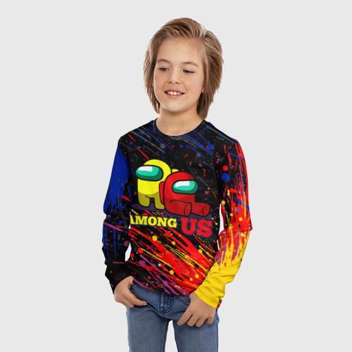 Детский лонгслив 3D AMONG US. Фото 01