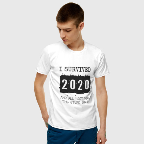 Мужская футболка хлопок 2020 - я выжил Фото 01