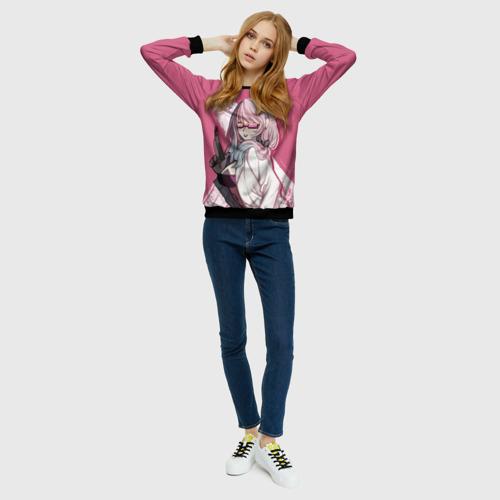 Женский свитшот 3D Мошенница в розовом Фото 01