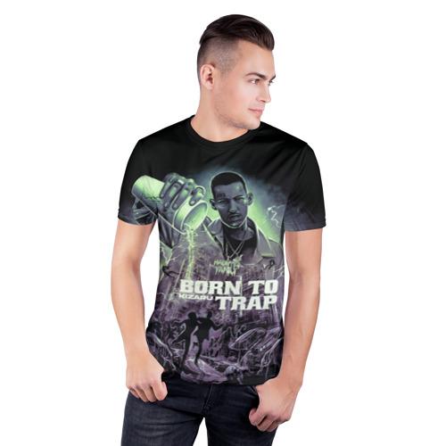 Мужская футболка 3D спортивная KIZARU BORN TO TRAP Фото 01