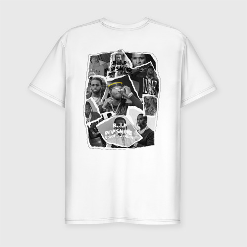 Мужская футболка хлопок Slim Дрилл Pop smoke Фото 01