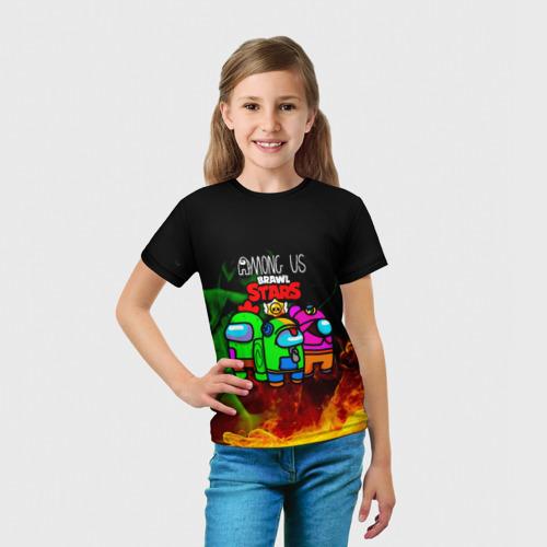 Детская футболка 3D Among Us Brawl StarS Фото 01