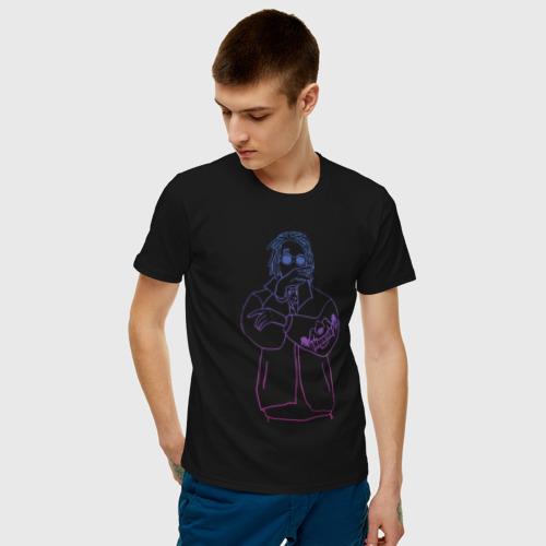 Мужская футболка хлопок Haunted Family | Neon Kizaru Фото 01