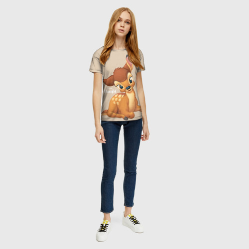 Женская футболка 3D Бэмби Фото 01