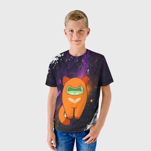 Детская футболка 3D Among Us Cat   Амонг Ас (Z) Фото 01
