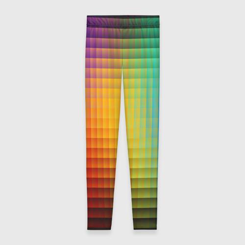Леггинсы 3D Разноцветные пиксели Фото 01