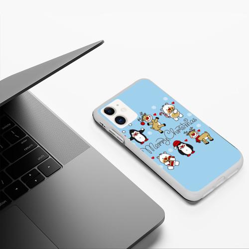 Чехол для iPhone 11 матовый С рождеством! Фото 01
