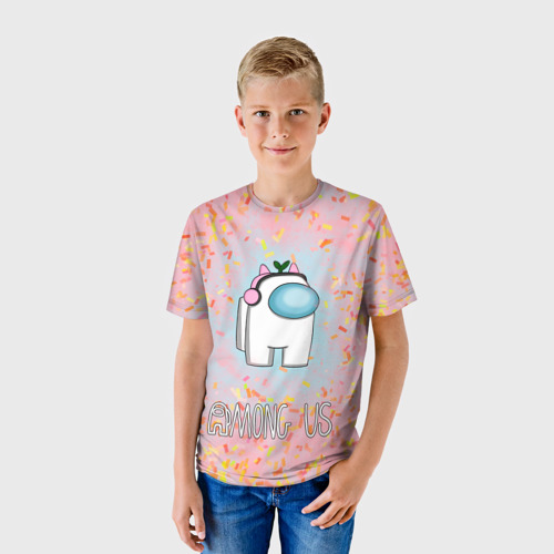 Детская футболка 3D Among Us   Девочкам Фото 01