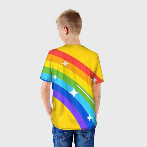 Детская футболка 3D AMONG US - Радужный Фото 01