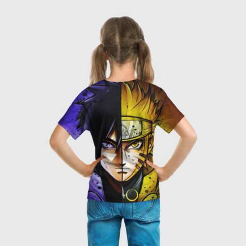 Детская футболка 3D Наруто и Саске Фото 01