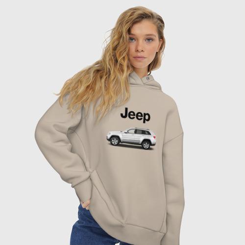 Женское худи Oversize хлопок Jeep Фото 01