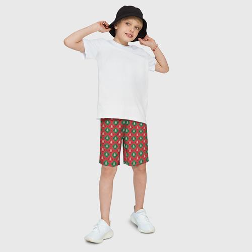 Детские спортивные шорты 3D Ёлочки Фото 01