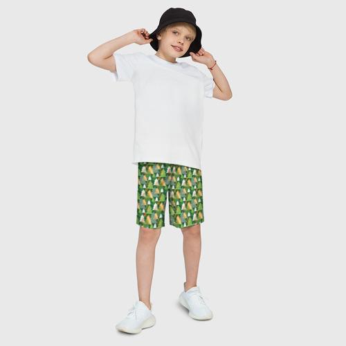Детские спортивные шорты 3D Ёлки Фото 01