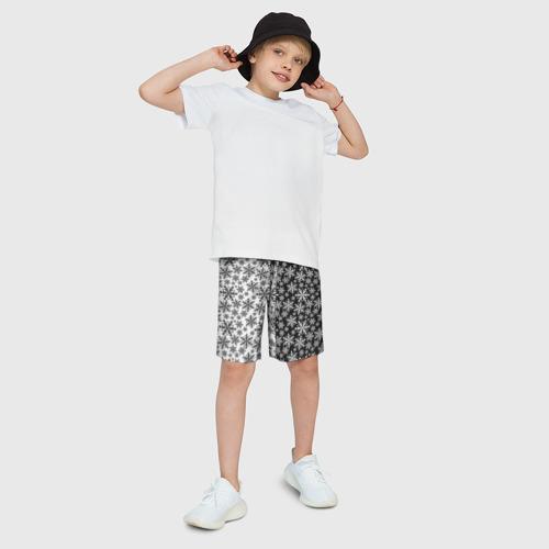Детские спортивные шорты 3D Снежинки Фото 01