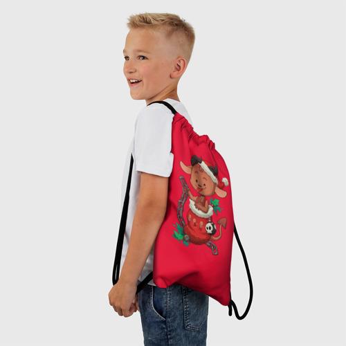 Рюкзак-мешок 3D Новый год   Чертёнок Фото 01