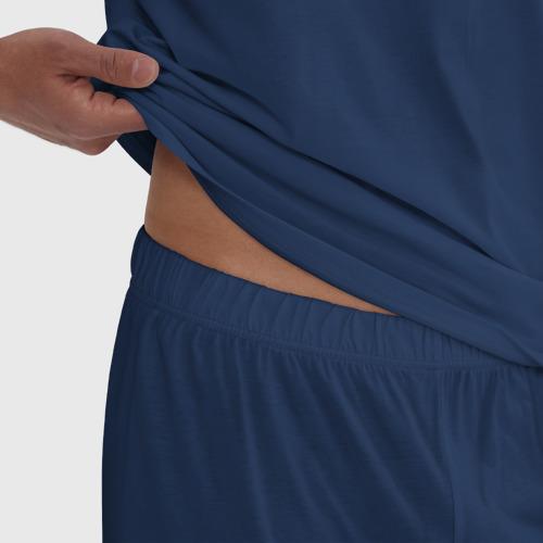 Мужская пижама хлопок Лань Чжань в ведерке Фото 01