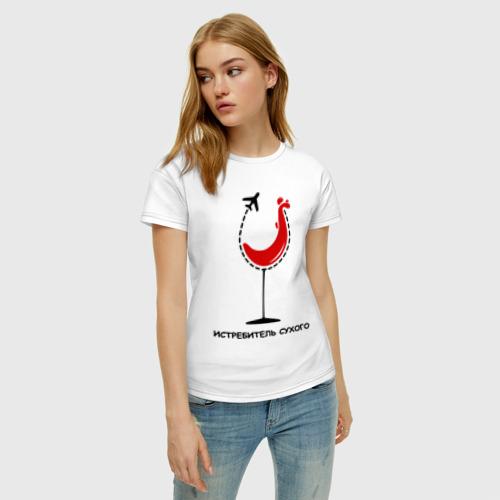 Женская футболка хлопок Истребитель сухого Фото 01