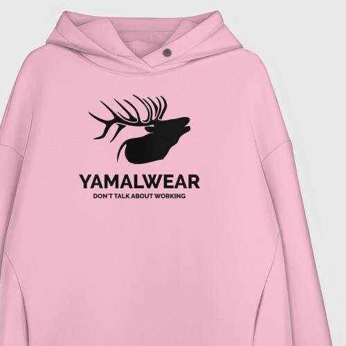 Женское худи Oversize хлопок Yamalwear Фото 01