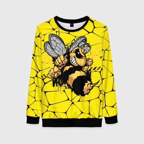 Женский свитшот 3D Дикая пчела Фото 01