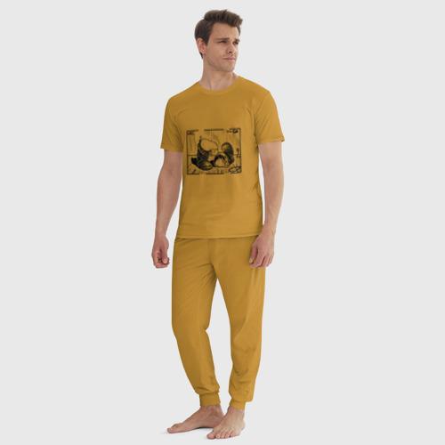 Мужская пижама хлопок Киви и сапоги Фото 01