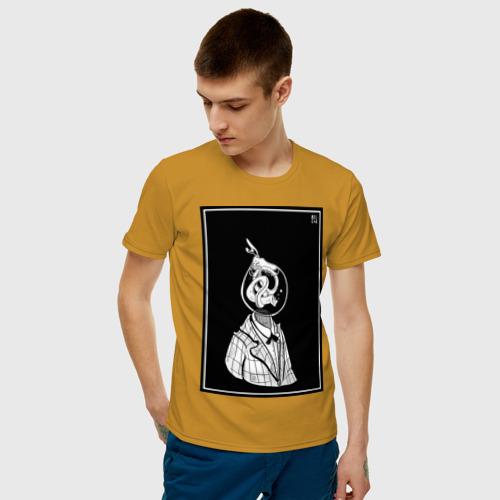 Мужская футболка хлопок угорь в пиджаке  Фото 01