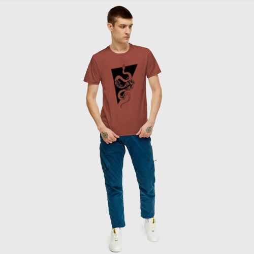Мужская футболка хлопок Змея Фото 01