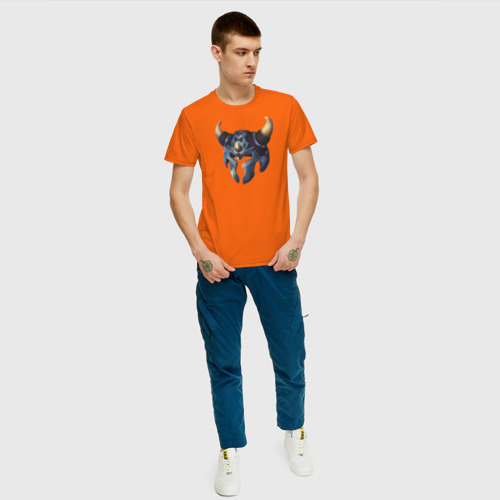 Мужская футболка хлопок Шлем викинга 2 Фото 01
