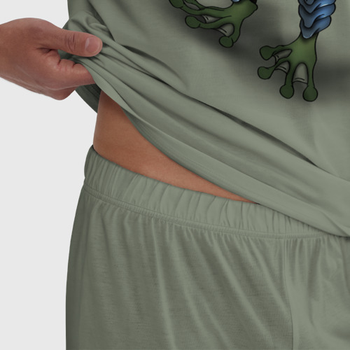 Мужская пижама хлопок Жаболюд Воин Фото 01