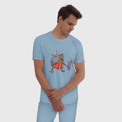 Мужская пижама хлопок Жаболюд Фото 01
