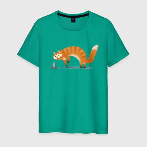 Мужская футболка хлопок Кошки-мышки Фото 01