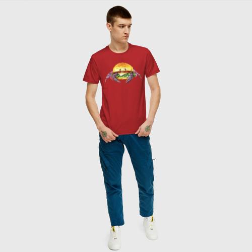 Мужская футболка хлопок краб-бургер Фото 01