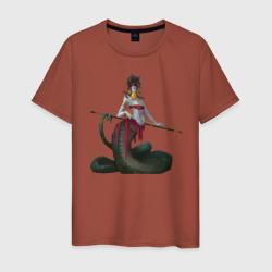 Змея Горгона с повязкой и копьём