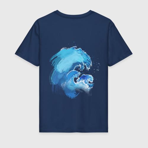 Мужская футболка хлопок Акварельный кит Фото 01