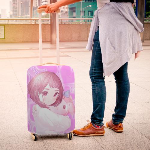 Чехол для чемодана 3D Сердечки для Урараки Очако Фото 01