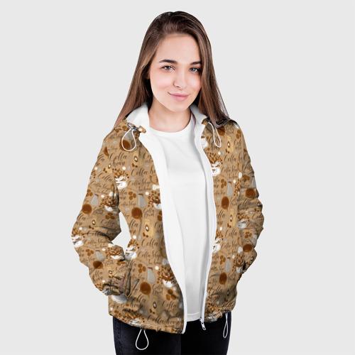 Женская куртка 3D Кофейня Фото 01