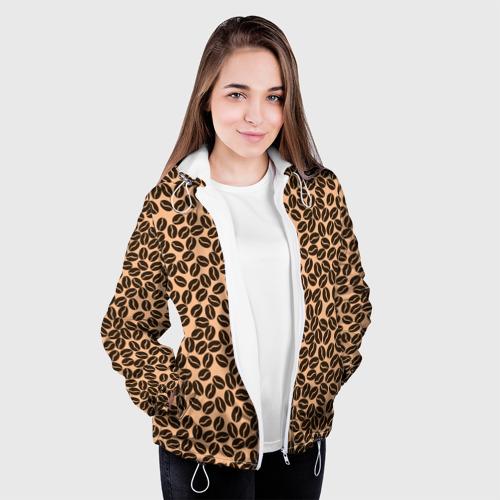 Женская куртка 3D Кофейные Зёрна Фото 01