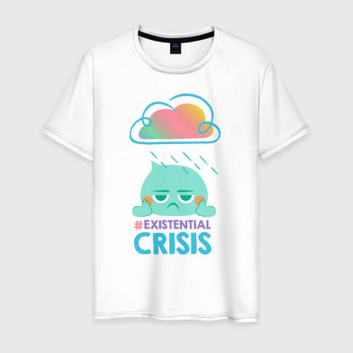 Мужская футболка хлопок Экзистенциальный кризис Фото 01