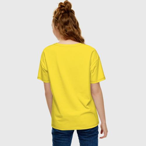 Женская футболка хлопок Oversize Джон Леннон, цитата Imagine Фото 01