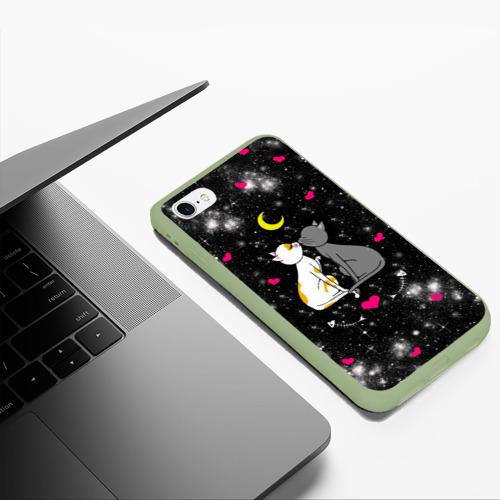 Чехол для iPhone 6Plus/6S Plus матовый Кошачья Любовь Фото 01