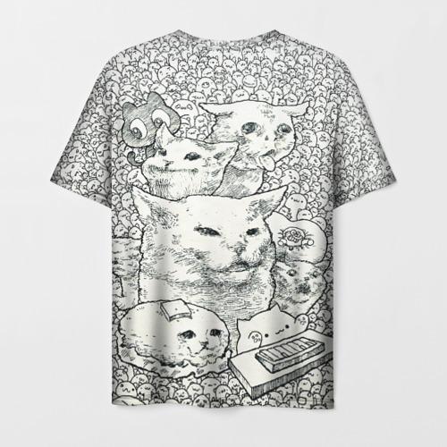 Мужская футболка 3D Коты мемы кошки Фото 01